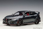 AutoArt 1/18 – Honda Civic Type R (FK8) 2017 (Polished Metal Metallic)