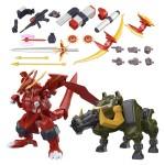 Super Minipla Gear Fighter Dendoh – Full Armor Dendoh Option Parts & Gattling Boar & Dragon Flare Set