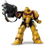 Warhammer 40K – Imperial Fists Intercessor With Auto Bolt Rifle and Auxiliary Grenade Launcher