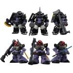 FW Gundam Converge Core Black Tri-Stars Zaku UU HM & Dom Set