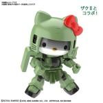 SDCS – Hello Kitty x Zaku II Green